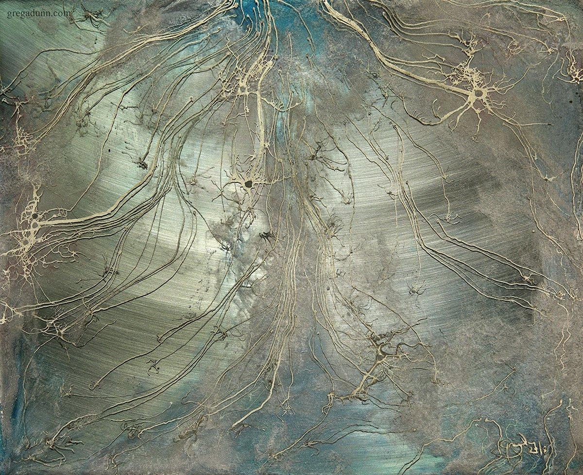 Brainscape in Blue Metallics