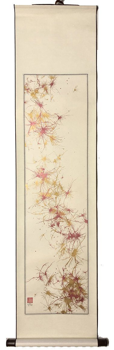 Red and Gold Astrocytes Scroll- SOLD